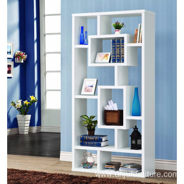 Factory Price for Corner Wooden Cabinet Modern Contemporary 10 Shelf Organizer Storage Bookcase - White Modern Contemporary 10 Shelf Organizer Storage Bookcase - export to Aruba Wholesale
